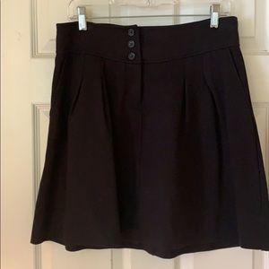 Banana republic black A-line skirt with pockets